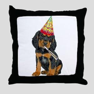 Gordon Setter Party Throw Pillow