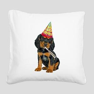 Gordon Setter Party Square Canvas Pillow