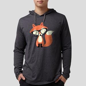 Hipster Red Fox Long Sleeve T-Shirt