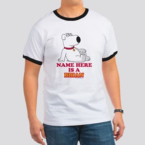 Family Guy Brian Personalized Ringer T