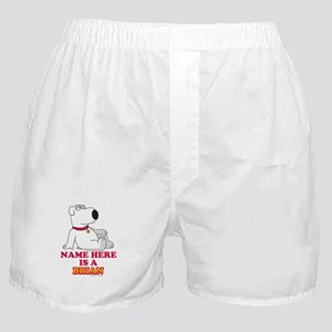 Family Guy Brian Personalized Boxer Shorts