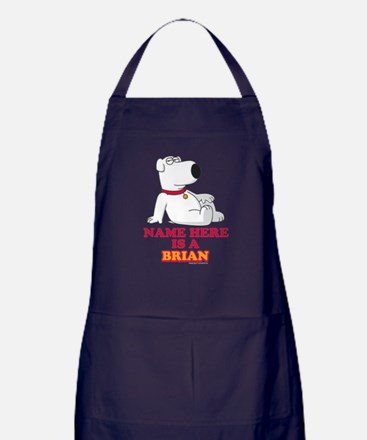 Family Guy Brian Personalized Apron (dark)