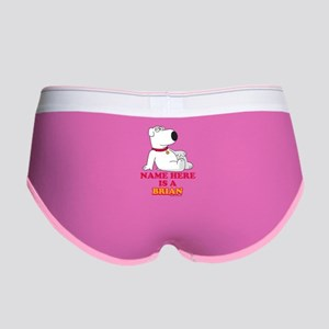 Family Guy Brian Personalized Women's Boy Brief