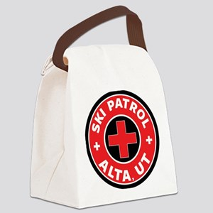 Alta Utah Ski Patrol Skiing Canvas Lunch Bag