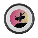 Surfer Girl Large Wall Clock