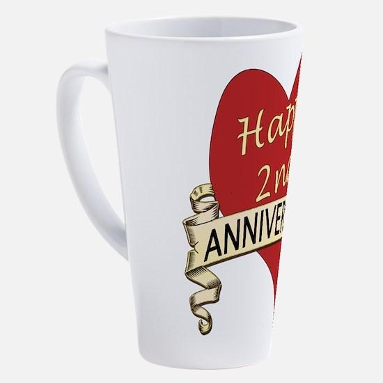 Cute 2nd anniversary 17 oz Latte Mug
