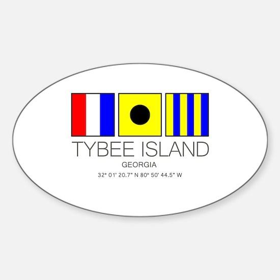 Tybee Island Georgia Nautical Flag Art Decal