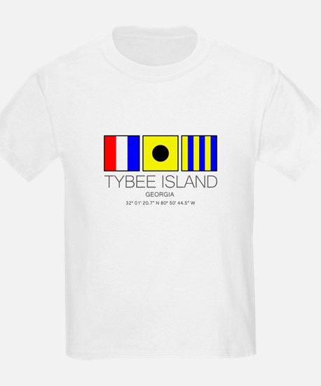 Tybee Island Georgia Nautical Flag Art T-Shirt