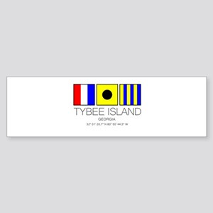 Tybee Island Georgia Nautical Flag Bumper Sticker