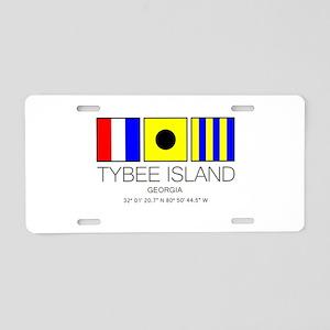 Tybee Island Georgia Nautic Aluminum License Plate