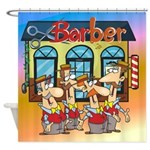 Barber Shop Q Shower Curtain
