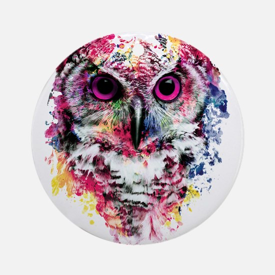 Owl Round Ornament
