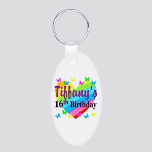 PERSONALIZED 16TH Aluminum Oval Keychain