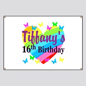 PERSONALIZED 16TH Banner