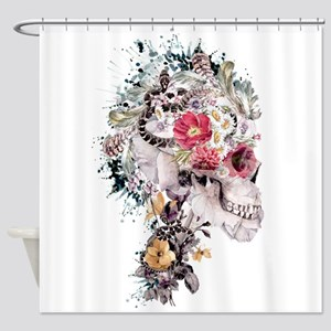 Momento Mori X Shower Curtain