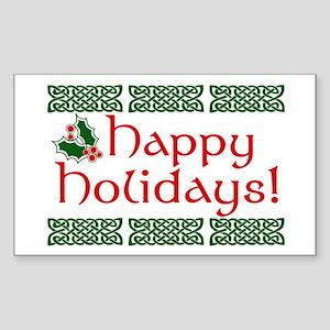 Happy Holidays Sticker (Rectangle)