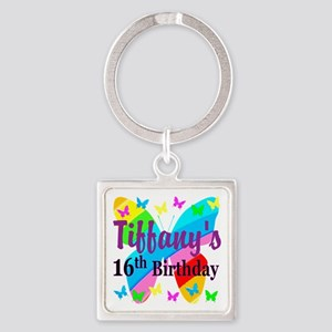 PERSONALIZED 16TH Square Keychain
