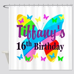PERSONALIZED 16TH Shower Curtain