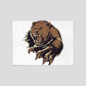 Wild Bear 5'x7'Area Rug