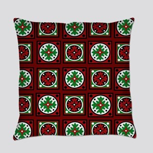 Burgundy Quilted Delight Everyday Pillow