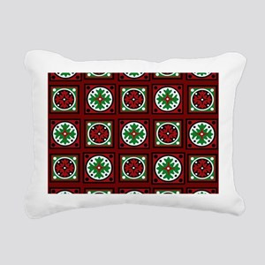 Burgundy Quilted Delight Rectangular Canvas Pillow