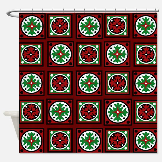 Burgundy Quilted Delight Shower Curtain