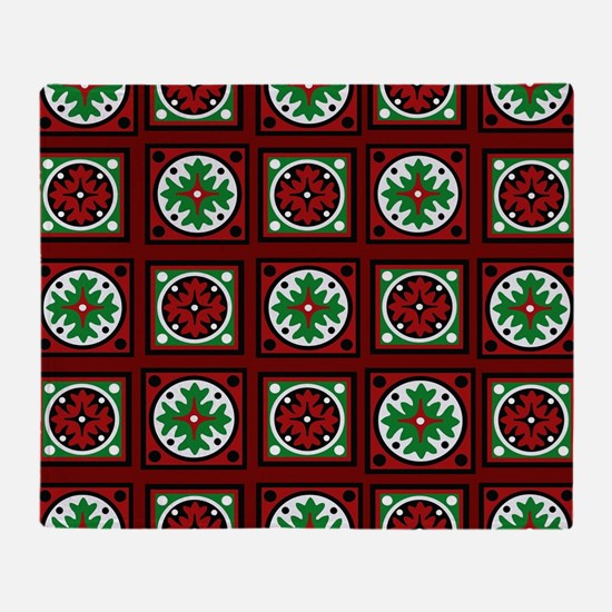 Burgundy Quilted Delight Throw Blanket