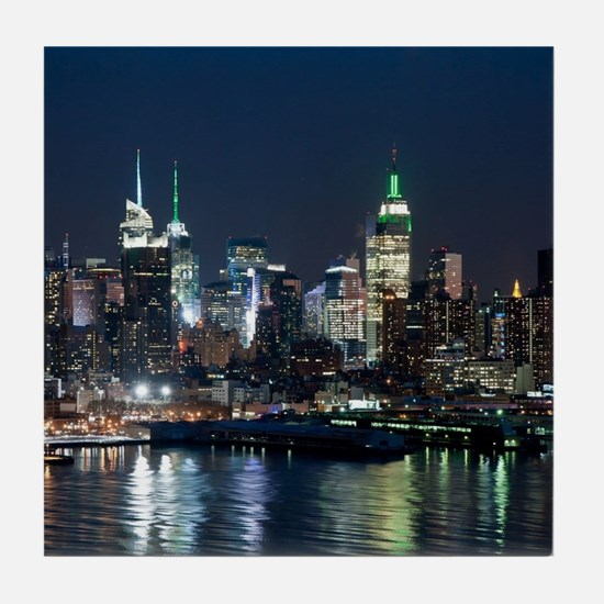New York skyline Tile Coaster