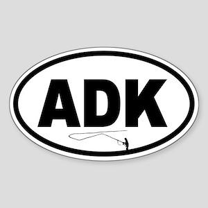Adirondack ADK Fly Fisherman Oval Sticker