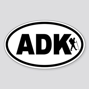 Adirondack ADK Hiker Oval Sticker
