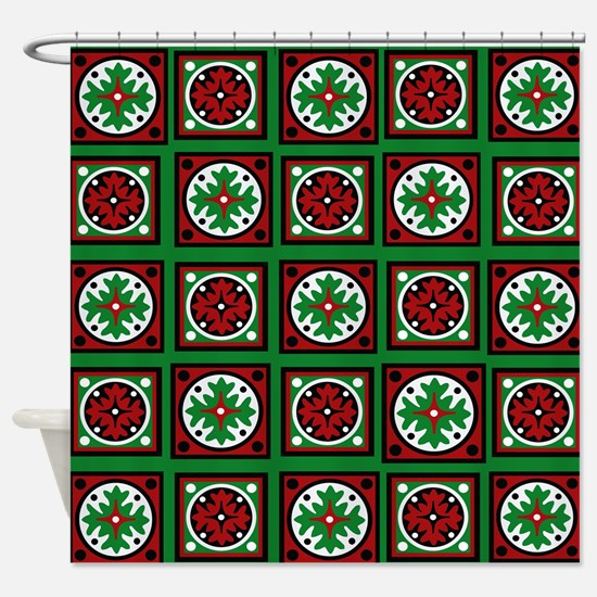 The Xmas Quilt Shower Curtain