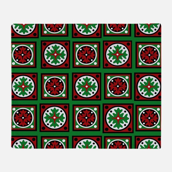 The Xmas Quilt Throw Blanket