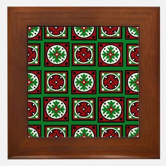 The Xmas Quilt Framed Tile