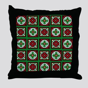 The Xmas Quilt Throw Pillow