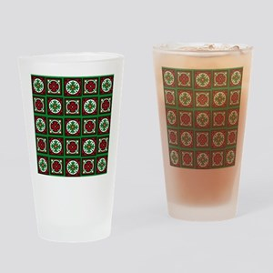 The Xmas Quilt Drinking Glass