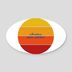 New Jersey - Avalon Oval Car Magnet
