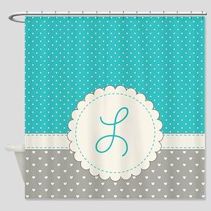 Cute Monogram Letter L Shower Curtain