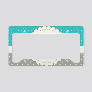 Cute Monogram Letter L License Plate Holder