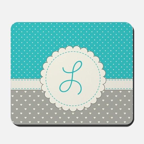 Cute Monogram Letter L Mousepad