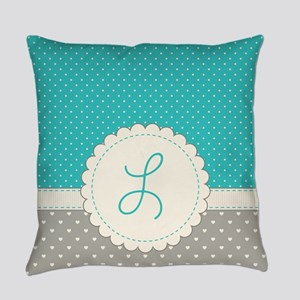 Cute Monogram Letter L Everyday Pillow