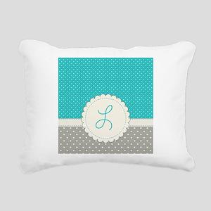 Cute Monogram Letter L Rectangular Canvas Pillow