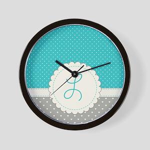 Cute Monogram Letter L Wall Clock