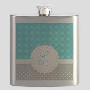 Cute Monogram Letter L Flask