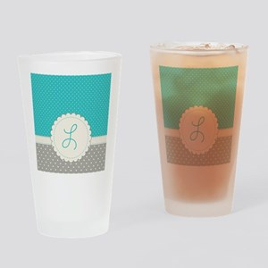 Cute Monogram Letter L Drinking Glass