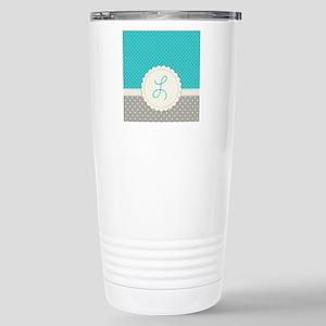 Cute Monogram Letter L Travel Mug