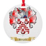 Sympele Round Ornament