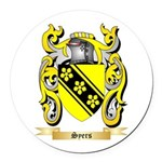Syers Round Car Magnet