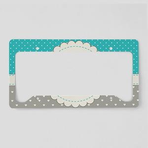 Cute Monogram Letter M License Plate Holder