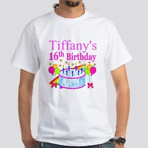 PERSONALIZED 16TH White T-Shirt