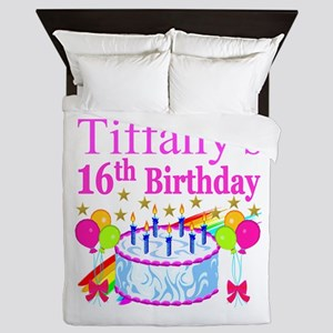 PERSONALIZED 16TH Queen Duvet